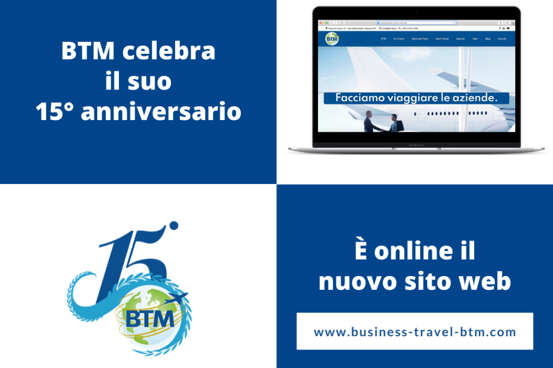 BTM celebra il 15° anniversario con il lancio del nuovo sito web.